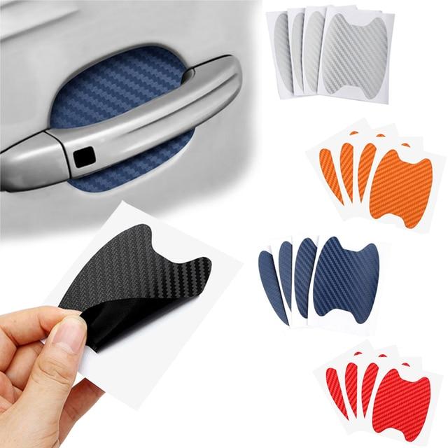 4Pcs Car Door Sticker Scratches Resistant Cover Auto Handle Protection Film Exterior Accessory Car Decor Car Stickers