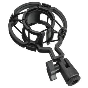 Universal Professional Condenser Microphone Mic Shock Mount Holder Studio Recording Bracket For Large Diaphram Mic Clip Black