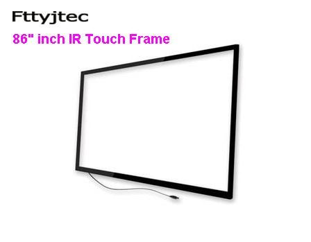 Fttyjtec-شاشة تعمل باللمس بالأشعة تحت الحمراء مقاس 98 بوصة ، 10 نقاط ، شاشة led/lcd