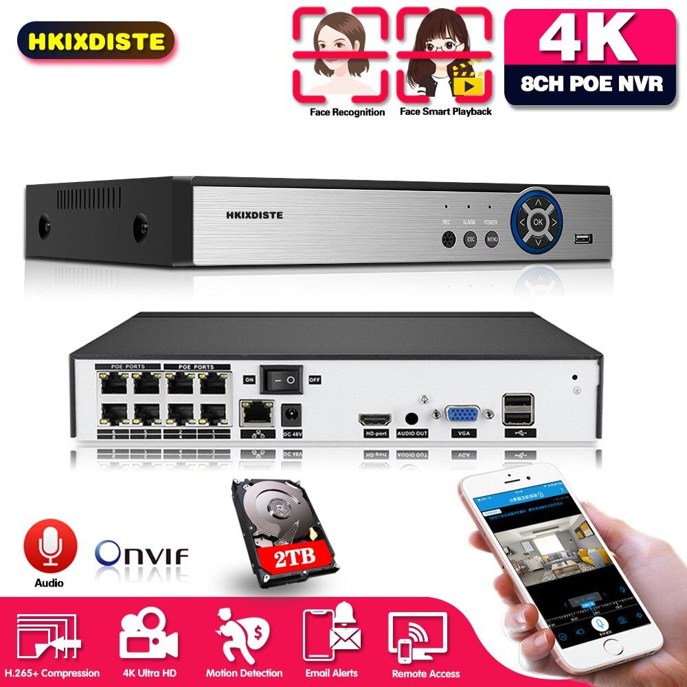 مسجل فيديو شبكي 8CH H.265 ، شبكة مراقبة ، CCTV ، NVR ، PoE ، 48V ، RJ45 ، 802.3af ، 8 قنوات * 5 ميجابكسل ، ONVIF 2.0 ، 3.5 بوصة sata