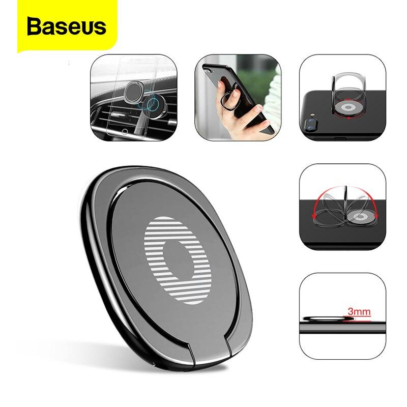 Baseus Universal 360 Degree Finger Ring Holder Mobile Phone Stand Desk Stand Zinc Alloy Magnetic Car Bracket For iPhone Samsung
