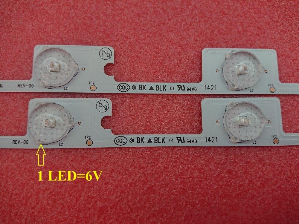 ¡Nuevo! 300 Uds./lote, 6 LEDS * 6V 442mm, nueva barra de tira de luz de fondo LED para KDL48JT618U KDL48JT618A 35018539 35018540