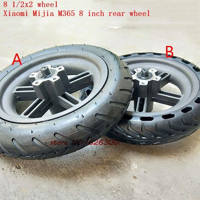 High Quality Xiaomi Mijia M365 Scooter Rear Wheels 8 1/2X2 Xiaomi Electric Skate Board Pneumatic Tyre Tube & 8.5 Inch Wheel Rims