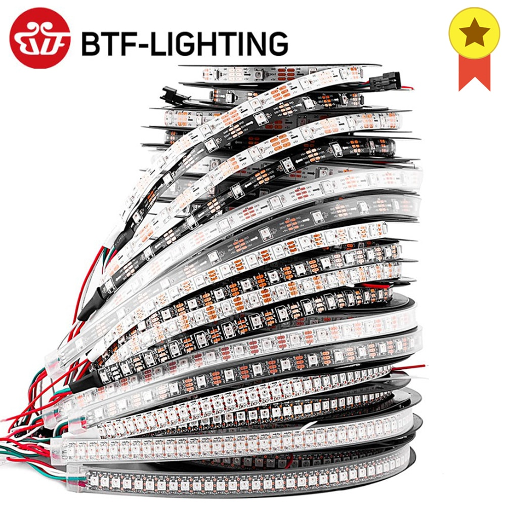1m 2m 4m 5m WS2812B Led Lights WS2812 RGB Led Strip Light Individually Addressable Led Light Strip B