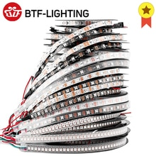 1m 2m 4m 5m WS2812B luci a Led WS2812 RGB Led Strip Light indirizzabile individualmente Led Light Strip nero bianco PCB IP30 65 67 5V