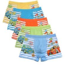 3Pc/lot  Random Color 2-10 Year Boy Cotton Boxer Cartoon Underpants  Kids Underwear Shorts