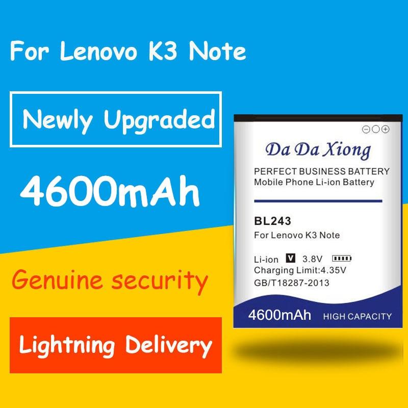 Бесплатная доставка 4450mAh BL243 батарея для Lenovo K3 Note K50-T5 K50-T3S A7000 A5500 A5860 A5600 A7600 запасная батарея