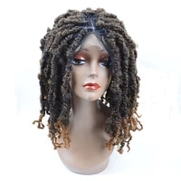 sambraid synthetic hair wig wigs perruque headband wig short curly synthetic wigs braided twist for women extensions