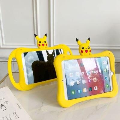 2020 Pikachu iPad6 pro11 funda protectora de silicona caja de mesa para Air3 mini 5 carcasa plana 10,2 pulgadas mini4 cute girls silicon