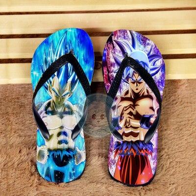 أنيمي دوراجون بورو Z سون جوكو أحذية تأثيري الرجال النساء أحذية حمام المنزل الصيف شاطئ الوجه يتخبط في الهواء الطلق