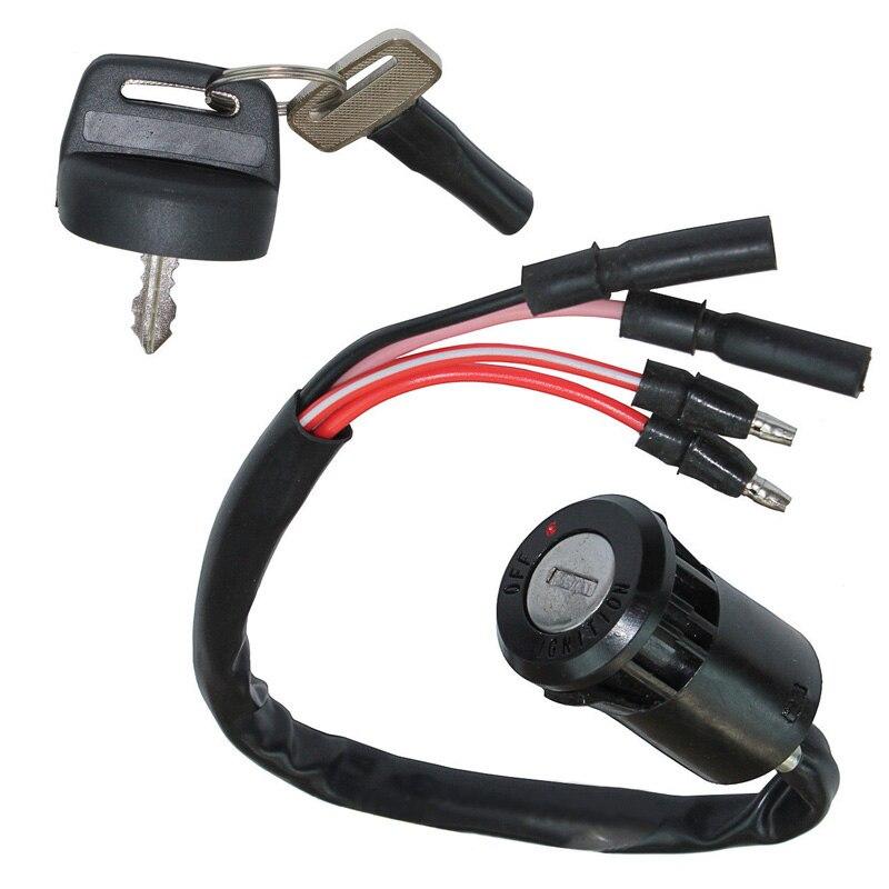 Reemplazo de llave de encendido ATV 1 pieza para HONDA 300 TRX300FW furtrax negro Kits Venta de alta calidad