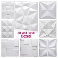 Autocollant mural 3D tridimensionnel 30x30cm  papier peint decoratif pour salon  etanche  pour salle de bains et cuisine