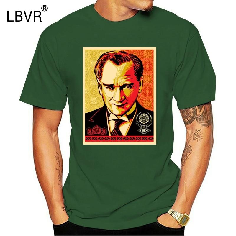 Мужская/Женская/мужская футболка Mustafa Kemal Ataturk Father Of Turks 2607
