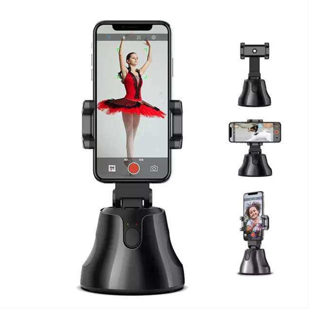 Selfie Stick 360 rotación Auto cara seguimiento de objetos inteligente disparo Pivo Cámara teléfono montaje Vlog disparo Smartphone soporte de montaje