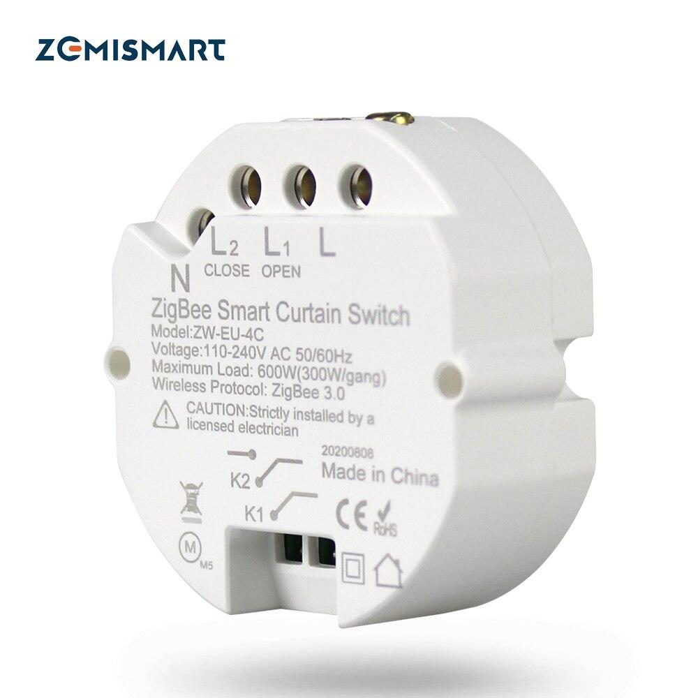 Zemismart Tuya Zigbee Curtain Module Alexa Google Home Control Smart Life APP Control