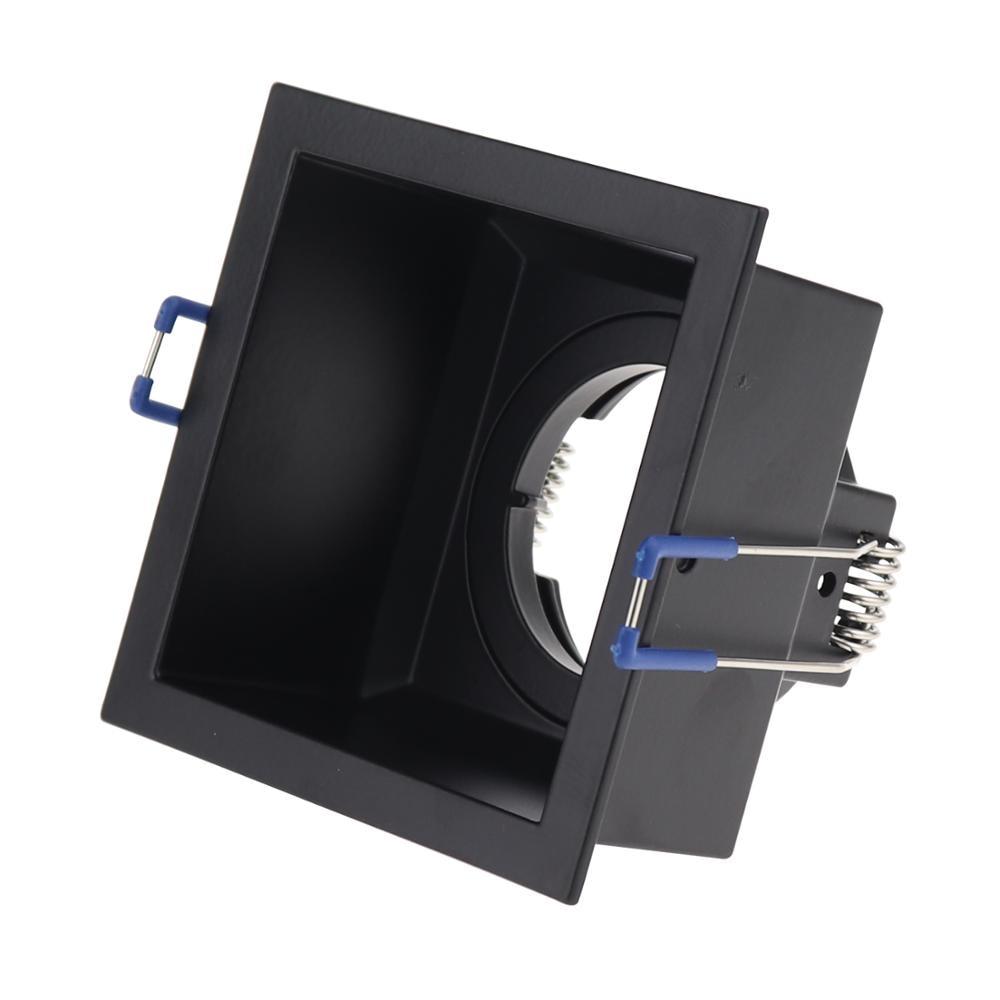 Nuevo diseño empotrado Downlight soporte lámpara de techo GU10 MR16 Base Socket iluminación accesorio cuadrado redondo Spotlight marco de montaje