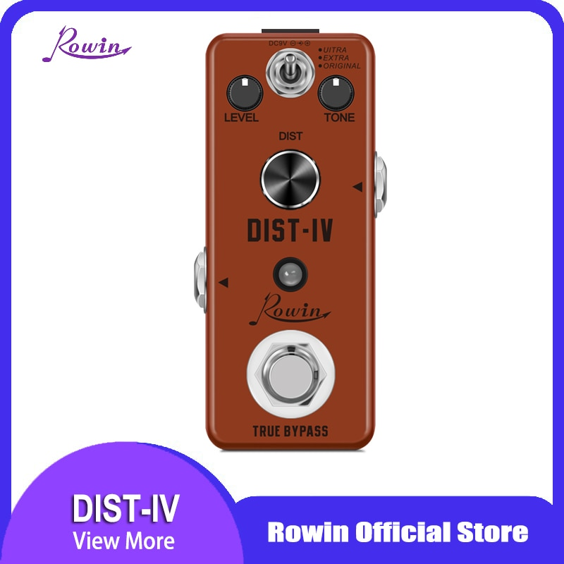 Rowin DIST-IV Guitar pedal LEF-301D Distortion Pedal Analog Classic DIST-IV Effect Pedals