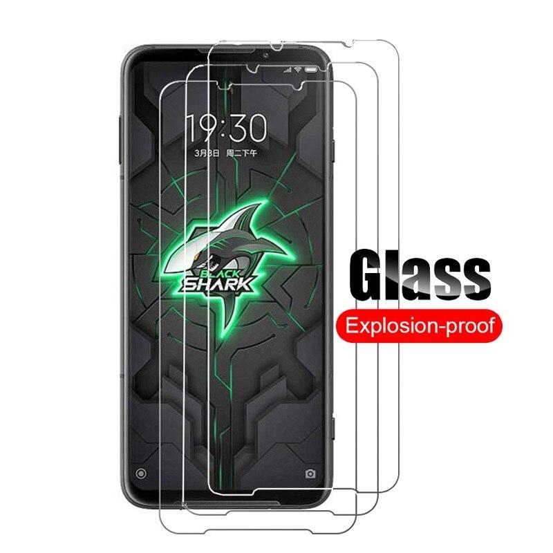 Para xiaomi tubarão preto 3 protetor de tela de vidro temperado guarda para xiaomi blackshark 3 pro película de vidro protetor 9h