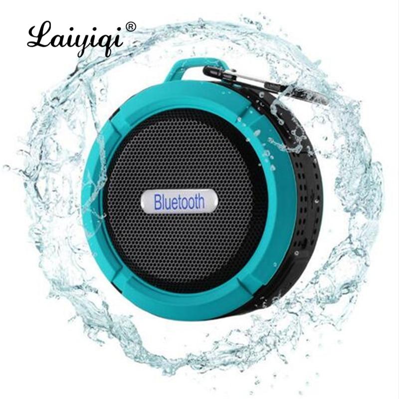 Laiyiqi-altavoz portátil de ducha impermeable con bluetooth, dispositivo portátil con gancho para...