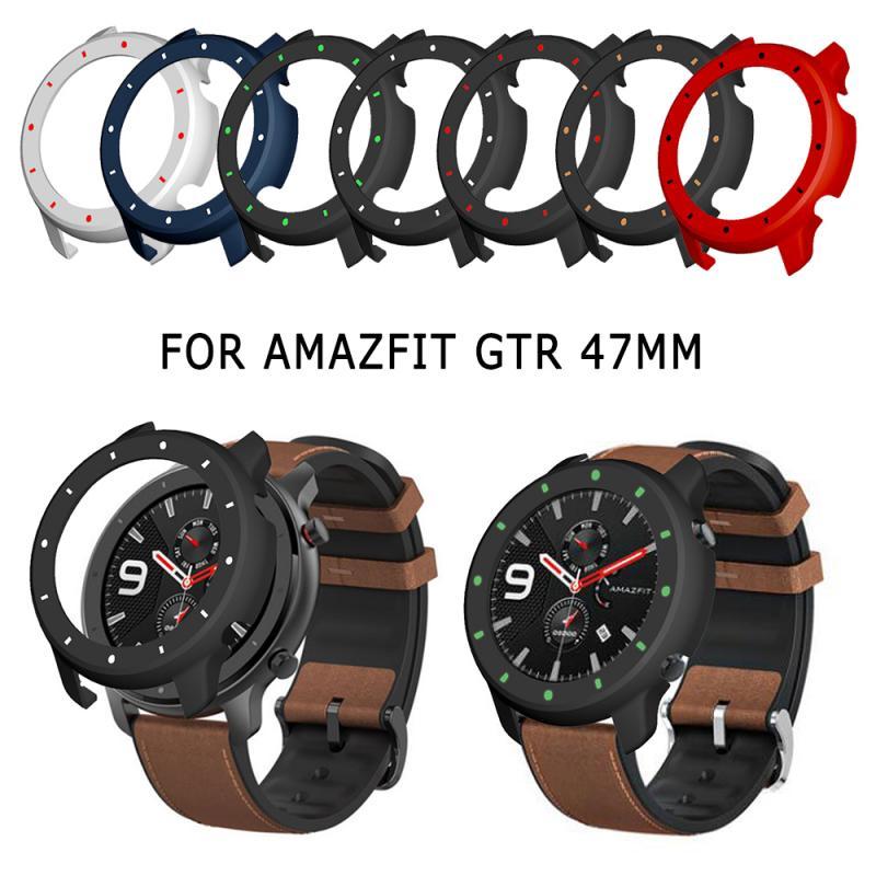 Carcasa protectora de silicona para reloj Xiaomi Huami Amazfit GTR 47mm para Amazfit GTR 47mm, carcasa protectora luminosa de dos colores