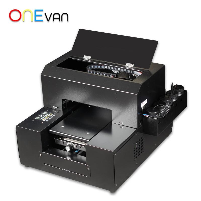 ONEVAN.6 цветной Новый Многоцветный Цифровой Планшетный прямой струйный УФ-принтер a4. Дешевый маленький УФ-принтер, бесплатная доставка в Евро...