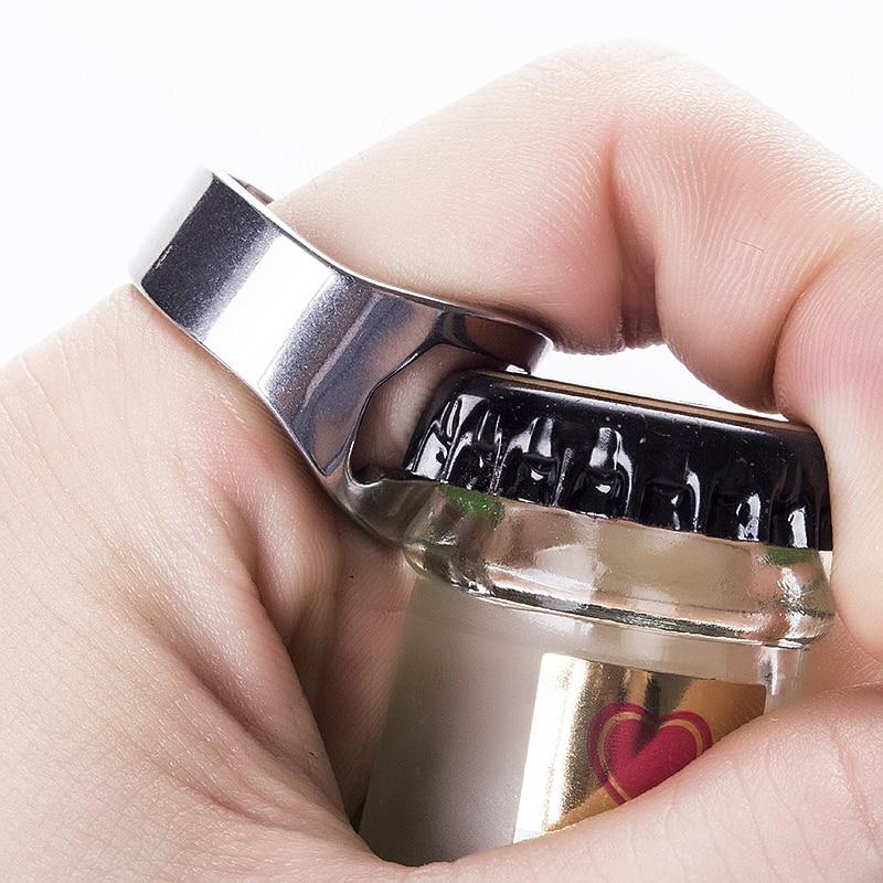 aliexpress.com - 20mm Diameter Portable Ring Opener Stainless Steel Finger Ring-shape Bottle Beer Cap Opening Remover Kitchen Bar Tools