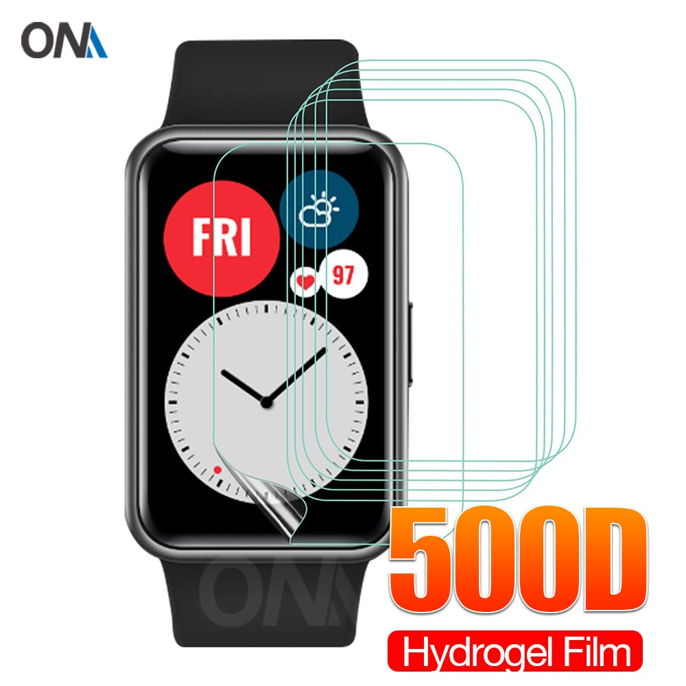 Full Coverage Screen Protector for Huawei Watch Fit & Honor Smart Watch ES Soft Hydrogel Protective
