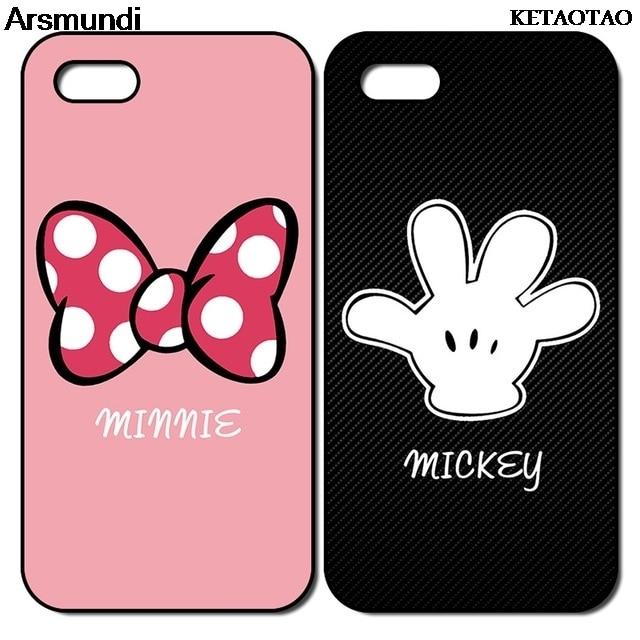KETAOTAO Микки и Минни Маус для влюбленных, подходящие чехлы для телефонов iPhone 4S 5C 5S 6S 7 8 Plus X, прозрачные мягкие чехлы из ТПУ