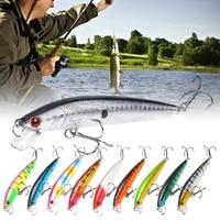 1pcs minnow fishing lure 7g 10cm trout lure 3d eyes jigging lure swimbait wobblers crankbait hard lures plastic fishing tackle