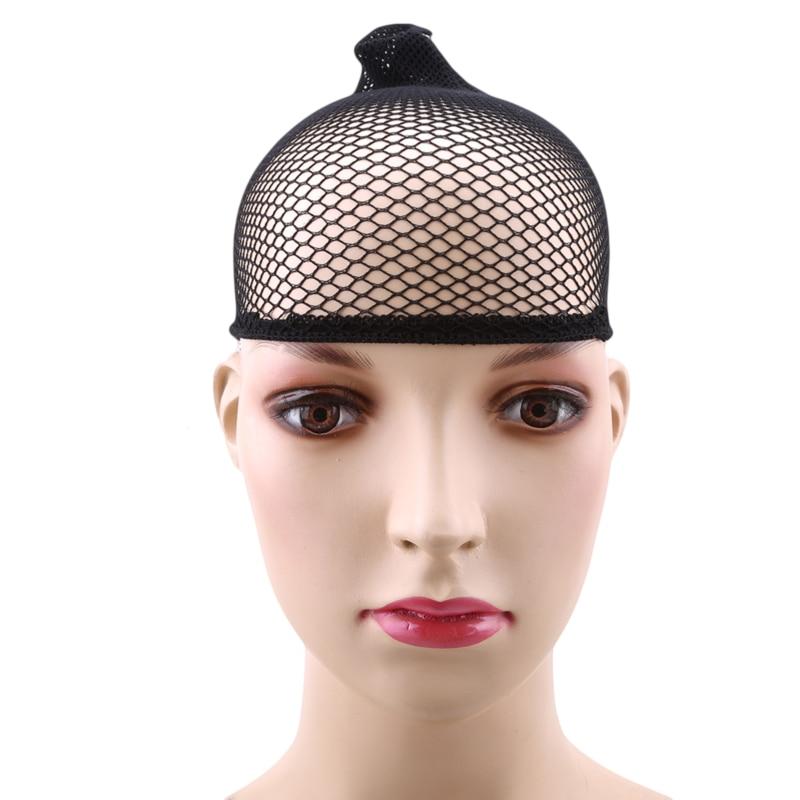 Wish Wig Stretchable Elastic Hair Nets Snood Wig Cap Cool Mesh Cosplay Black Color FishHairnet Comfortable Wig Net