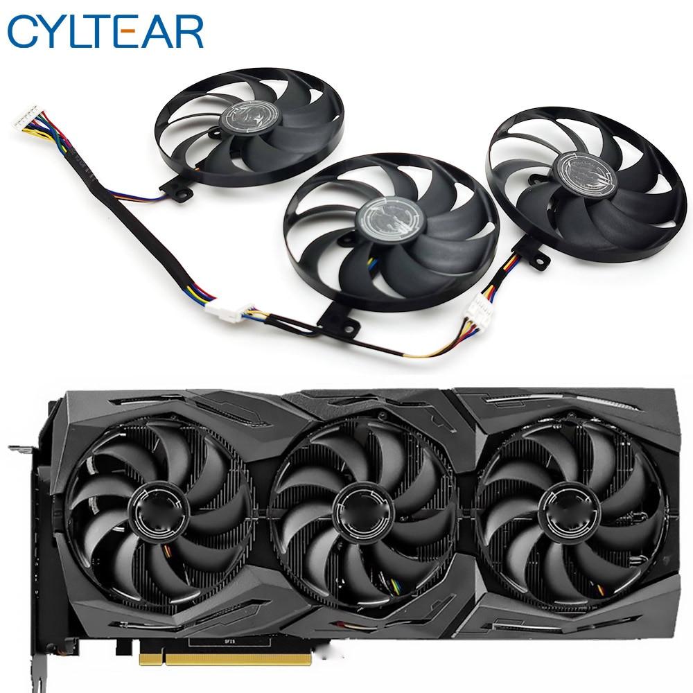 T129215SU 7Pin GPU Card Cooler Fans For ASUS ROG STRIX-GeForce RTX 2070 2080 SUPER Ti GAMING RTX2080 RTX2080Ti Fan монитор asus tuf gaming vg27aq 27 черный