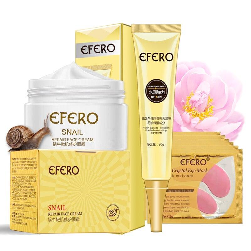 7Pcs Face Hyaluronic Acid Snail Cream Anti-aging Remove Eye Bag Eye Cream Lifting Firming Fine Lines Moisturizing Face Skin Care