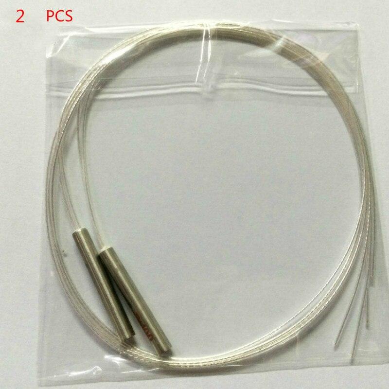 2x PT100 Платиновое сопротивление RTD датчик мини Температурный Зонд-40 ~ 200 градусов с 1 метром 2 м 3 м высокотемпературный провод