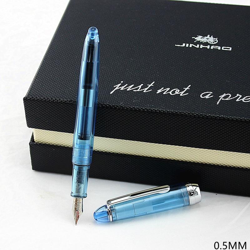 Artículo nuevo Jinhao 992 Kawaii Lucency/azul/Blanco/Rojo 12 colores pluma estilográfica escuela Oficina papelería de lujo bolígrafos bonitos de escritura