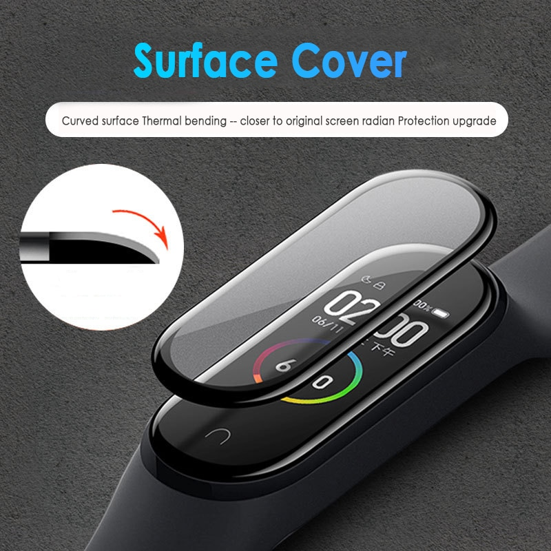 3D Protective Glass for Xiaomi mi band 5 glass film for Mi band 5 Smart Watch band 5 Soft Screen Protector Film For mi band 5