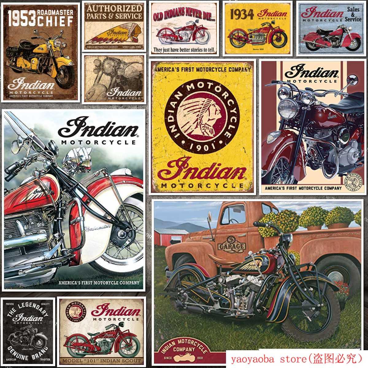 Letrero metálico pintura de estaño para motocicleta india de empresas desconocidas desde 1901, cartel decorativo para pared, cartel de lata Retro para bares y bares