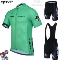 pro strava team 2021 cycling jersey set mens cycling clothing race bike 19d bib shorts suit mtb bicycle summer maillot culotte