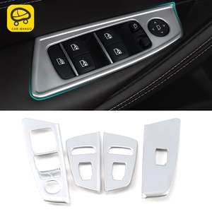 CarManGo Car Accessories Window Control Panel Lift Button Frame Sticker Cover Interior Decoration for BMW 5 Series G30 2017-2020
