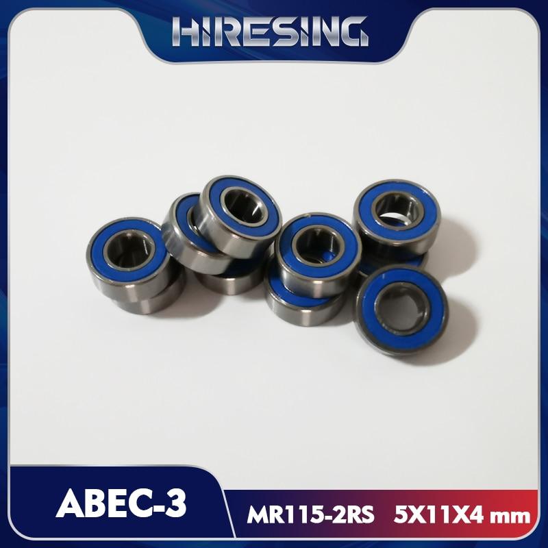 MR115-2RS rolamento de borracha azul ABEC-3 (10 pces) 5x11x4mm miniatura MR115-2RS rolamentos de esferas azul selado