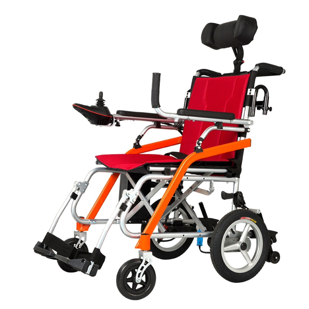 Ultra léger seulement 19kg handicapé portable pliant en alliage de magnésium fauteuil roulant avec batterie au lithium
