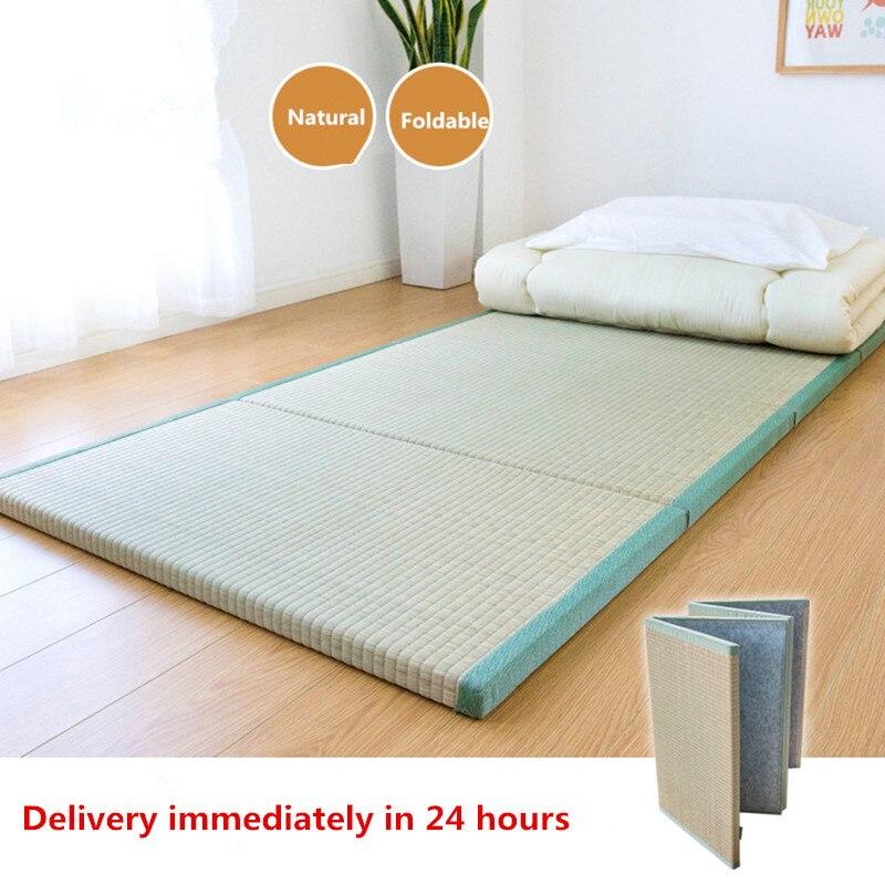 Estera de colchón Tatami tradicional japonesa plegable grande rectangular, estera de paja para Yoga, estera Tatami para dormir, suelo