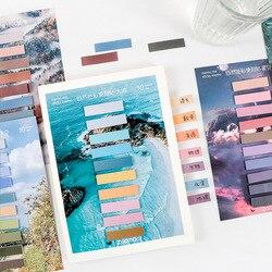 200 folhas morandi colorido página marcadores pegajoso índice tabs bandeira nota guias auto adesivo documento adesivos para livros caderno