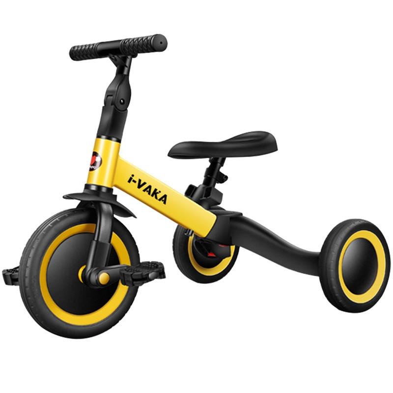 Детский трехколесный велосипед 3 в 1, детская прогулочная коляска, детский велосипед, трехколесный велосипед, прогулочная коляска, детская п...