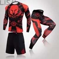 2021 men sportswear compression suits breathable gym clothes man sports joggers training gym fitness tracksuit running sets 3xl