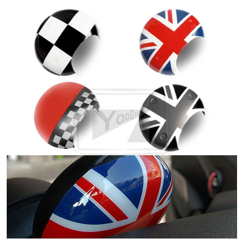 Für Mini Cooper R55 R56 Drehzahlmesser Shell Aufkleber JCW Union Jack R57 R58 R60 R61 Checker Grau Jack ABS kunststoff