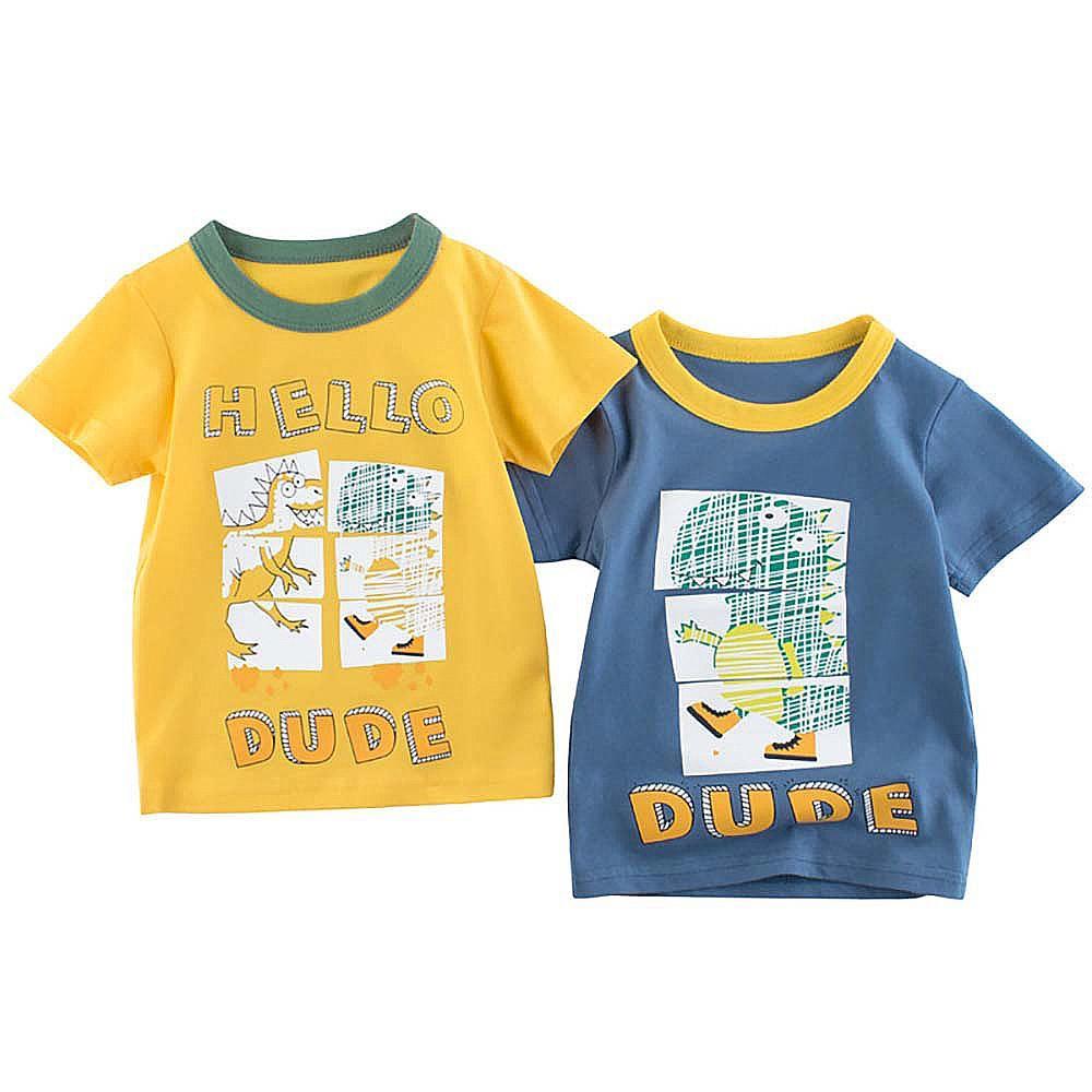 Летние футболки, детская одежда футболки с короткими рукавами и круглым вырезом графический принт повседневные футболки для детей хлопков...