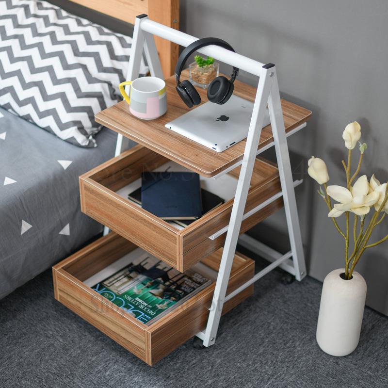 Простой мобильный столик JOYLIVE с боковым углом, Маленький журнальный столик, прикроватный столик для дивана, ленивый прикроватный столик zmebel прикроватный столик amnesia
