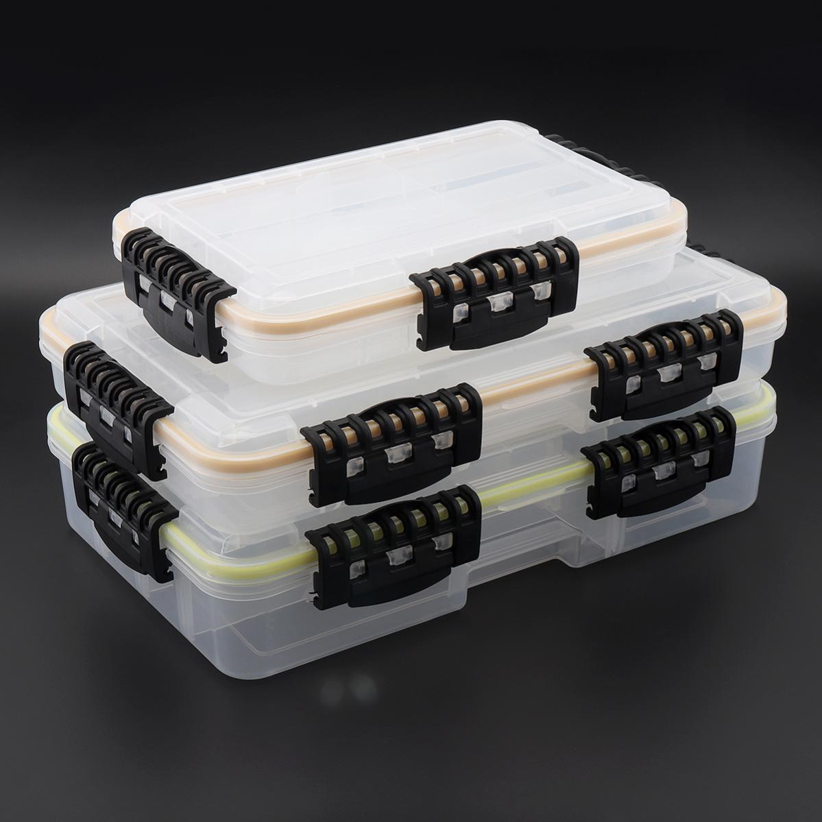 دائم سعة كبيرة مقاوم للماء صندوق معالجة الصيد خطاف الصيد إغراء وهمية الطعم اكسسوارات صندوق تخزين S متر L 3 حجم اختياري