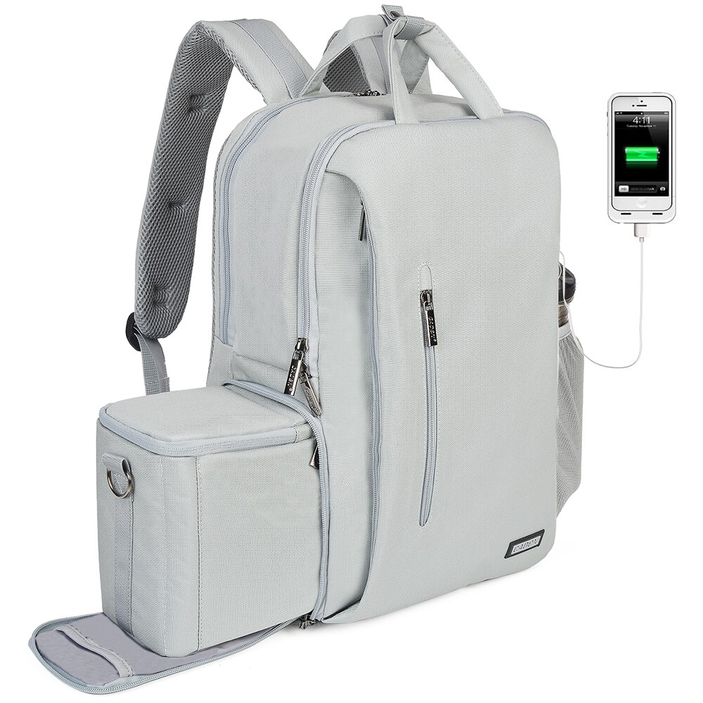 CADeN dslr Cámara bolsa impermeable mochila hombro portátil cámara digital y lente fotografía equipaje bolsas funda para Canon Nikon