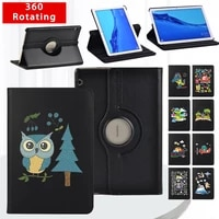 360 degrees rotating stand cover for huawei mediapad t3 10 9 6t5 10 10 1 pu leather fashion eva series tablet case